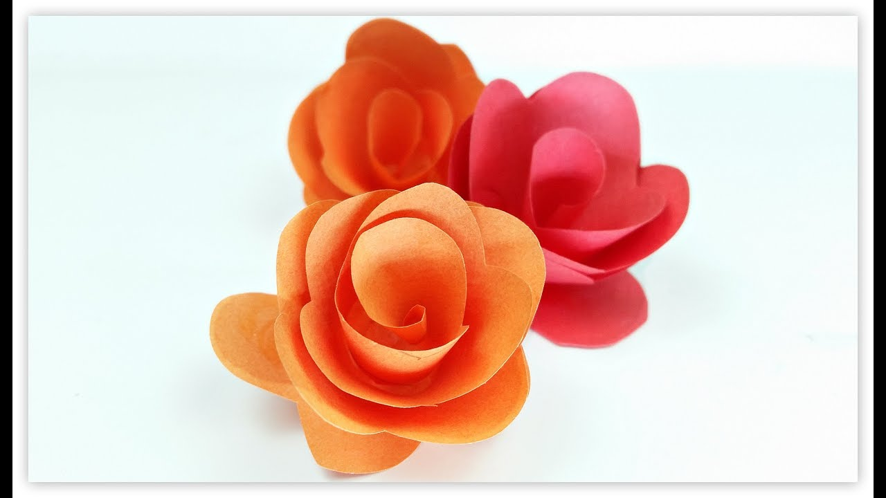 Paper flowers rose diy tutorial easy for childrenorigami flower paper flowers rose diy tutorial easy for childrenorigami flower folding 3d for kidsfor beginners mightylinksfo