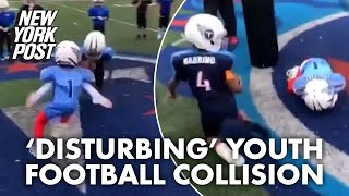 'Deeply disturbing' youth football collision goes viral | New York Post