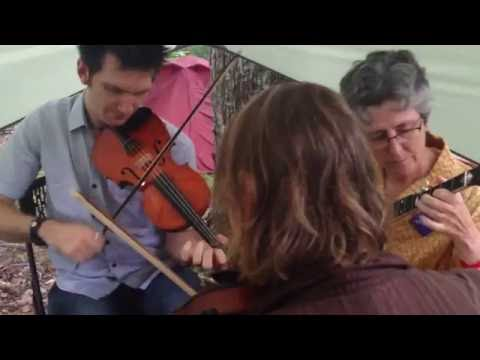 Sarah Armstrong's Paddy on the Turnpike  Adam Hurt & Emily Schaad fiddles  Clifftop 2016