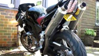 suzuki sv650s k8 sport start up with laser x treme baffle removed