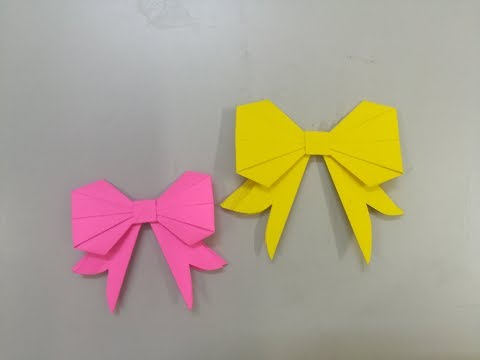 how to make a paper bow tie - simple bow tie