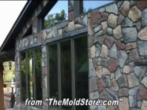Home Made Fieldstone Stone Veneer As Home Siding Over A
