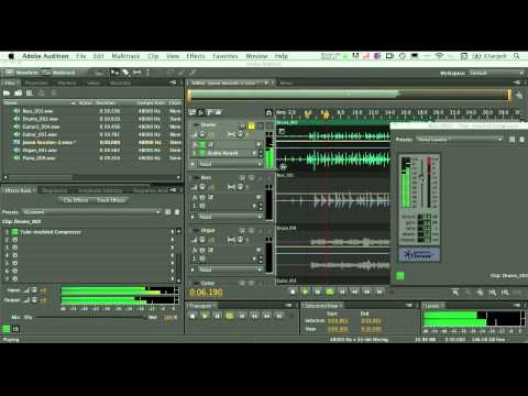 Multitrack Recording & Mixing Basics in Adobe Audition for the Mac