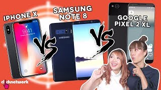 connectYoutube - iPhone X vs Samsung Note 8 vs Google Pixel 2 XL - Which is the best? - Hype Hunt: EP31