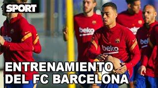 EL ENTRENAMIENTO DEL FC BARCELONA para preparar EL PARTIDO DE CHAMPIONS ANTE EL FERENCVAROS ?
