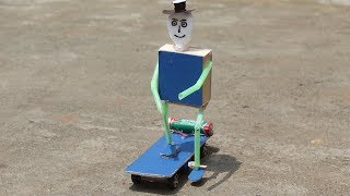 How To make Skateboard Robot at Home - Very Simple