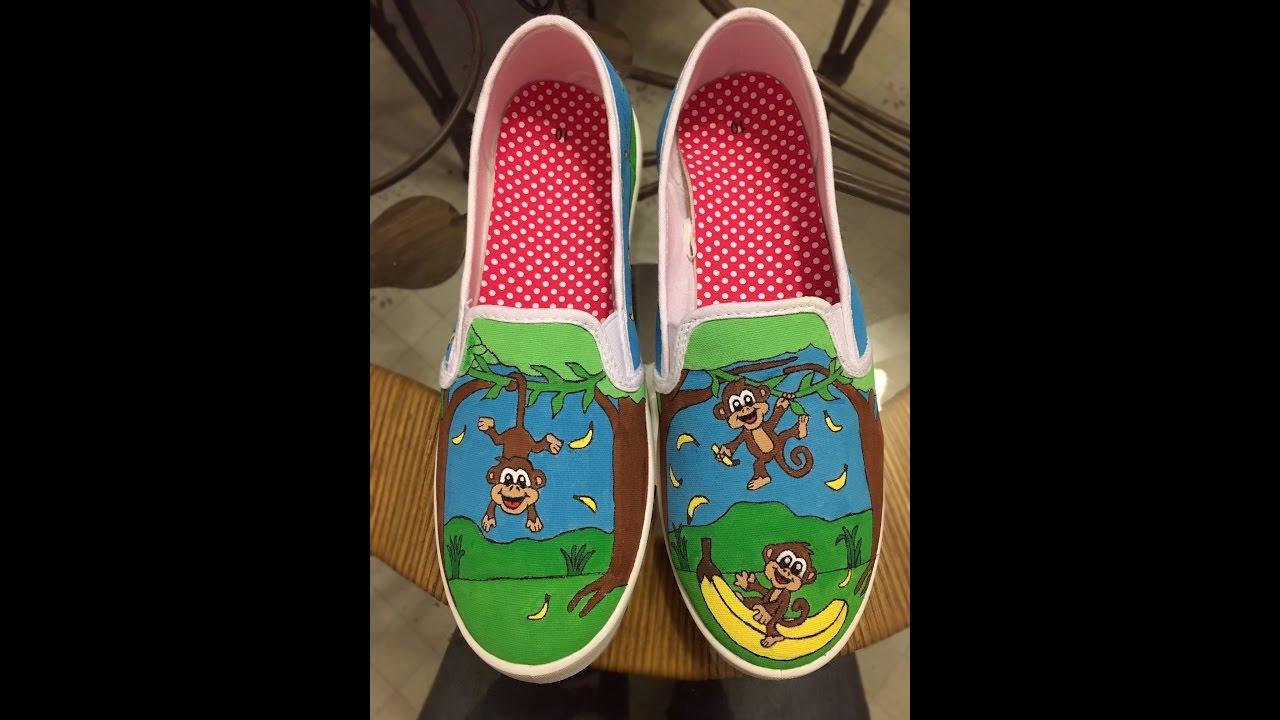 de79deba88b79 How to Spray Sealer on Hand Painted Shoes / Mod Podge Acrylic Sealer