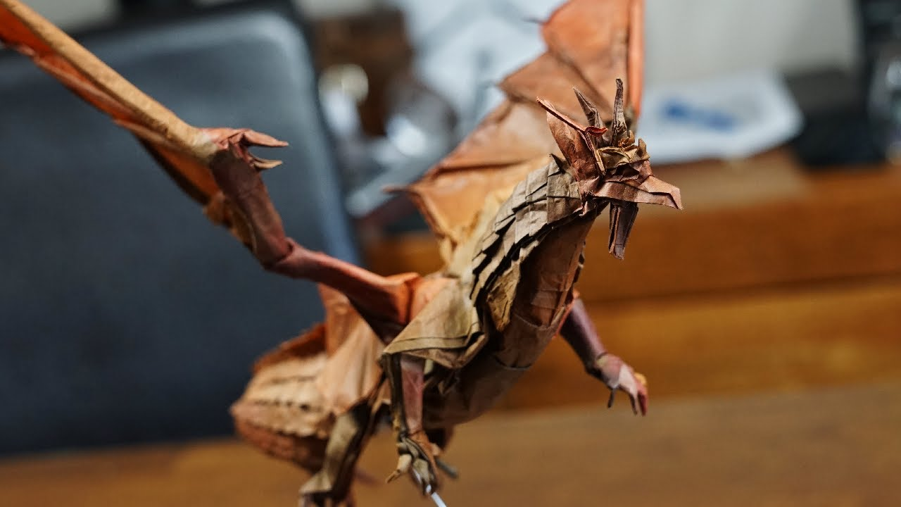How to Fold an origami paper dragon | Origami dragon | 720x1280