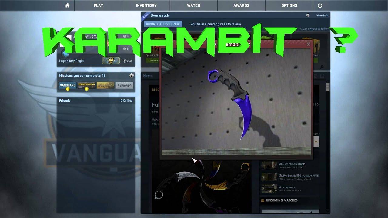 Cs go case opening karambit youtube