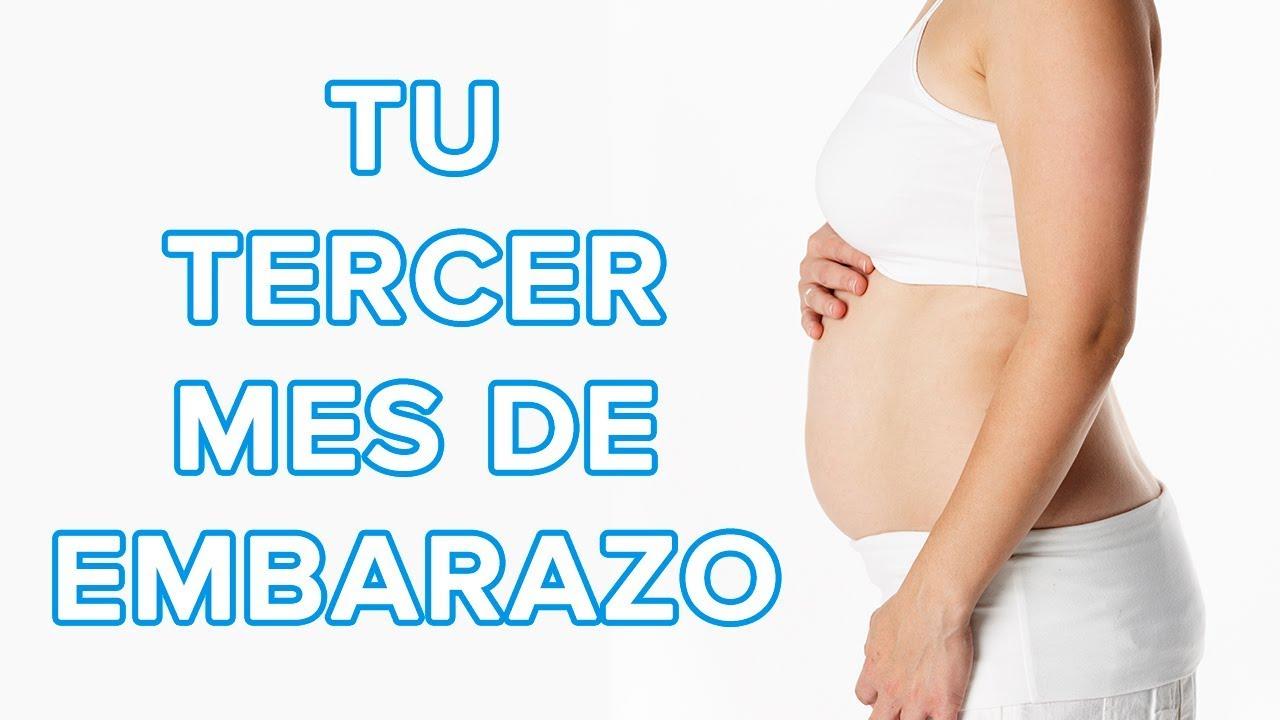 Barriga de embarazo a los tres meses