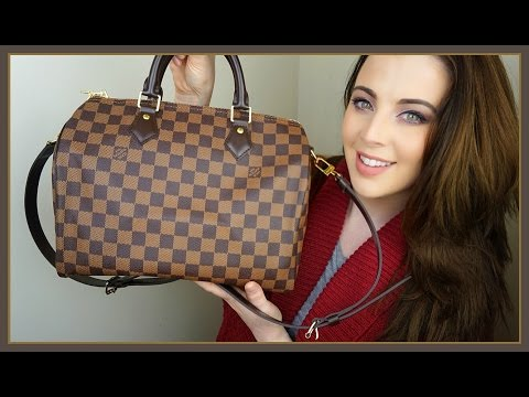 Louis Vuitton Speedy 30 Bandouliere (SpeedyB) Damier Ebene Unboxing