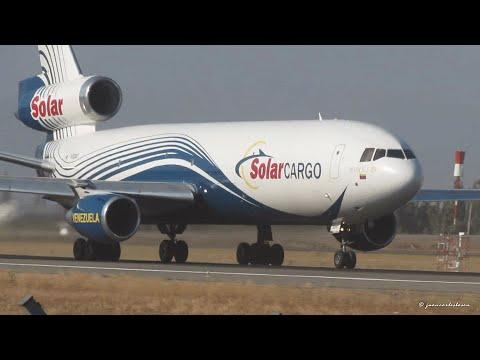 Solar Cargo Venezuela McDonell Douglas DC-10-30F (YV524T) despegando desde Santiago de Chile