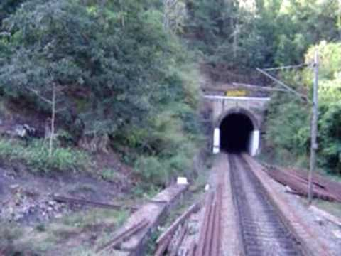 Train Driver View Araku Valley Ghat Section Part Of