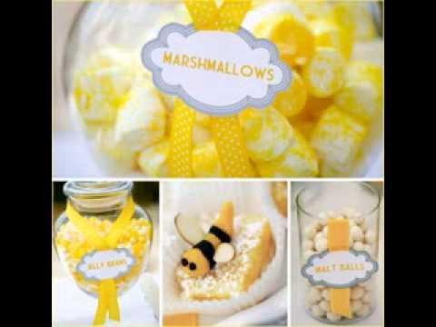 DIY Bumble Bee Baby Shower Decor Ideas