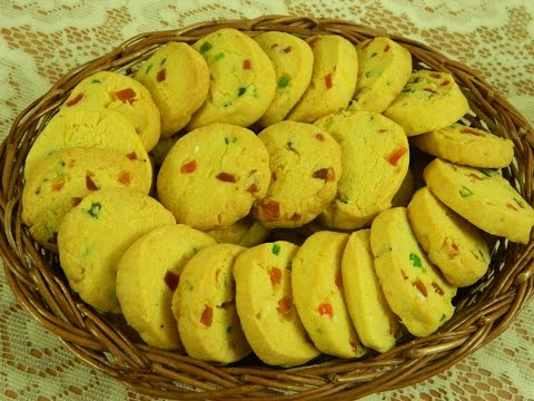 Tutti Fruity Karachi Biscuits / Fruit Biscuits / Butter Cookies - By Food Connection