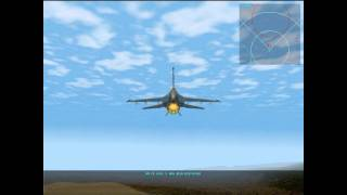 [Classic] F-16 Multirole Fighter - Gameplay #1 / Graphic test HD5770