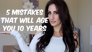 5 COMMON MAKEUP MISTAKES THAT AGE YOU 10 YEARS!   OVER 35