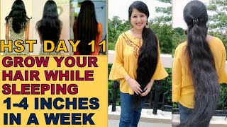 Grow 1 4 Inches of your Hair in 7 days INVERSION METHOD Do this everyday turn thin to thick hair