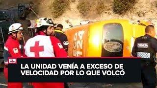 Varios Heridos Al Accidentarse Una Combi En La México Pachuca