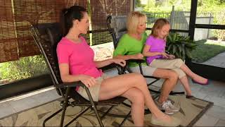 Bliss Hammocks Deluxe Foldable Rocking Chair with Headrest on QVC
