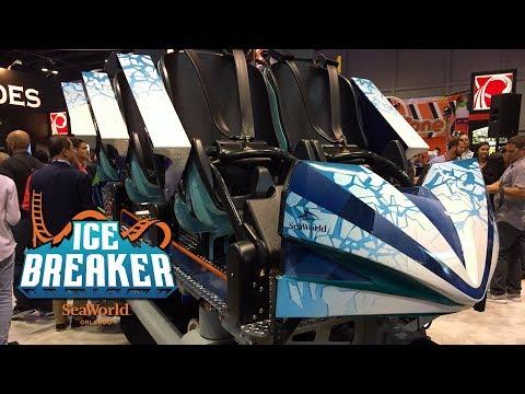 Ice Breaker Roller Coaster Train Reveal for SeaWorld Orlando - IAAPA Expo 2019