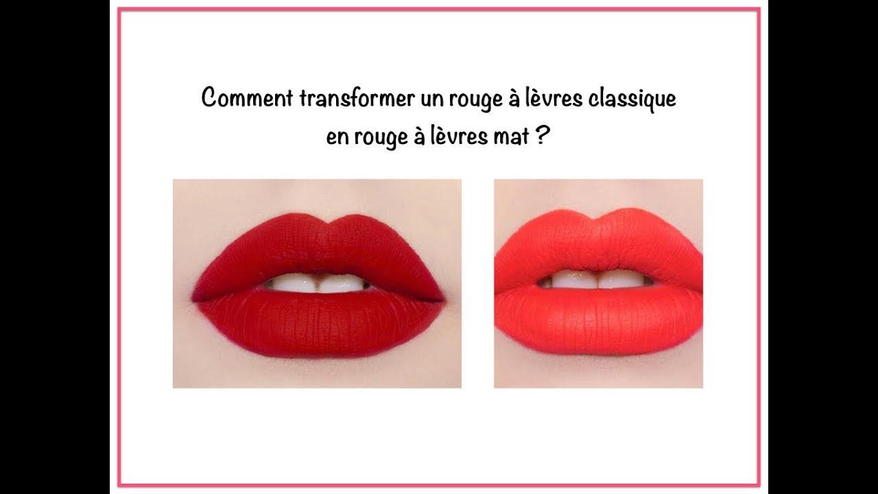 Comment Transformer Un Rouge à Lèvres Classique En Rouge à Lèvres Mat