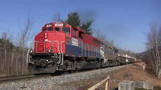 Big Rocks = Big Throttle! New England Central Rock Trains