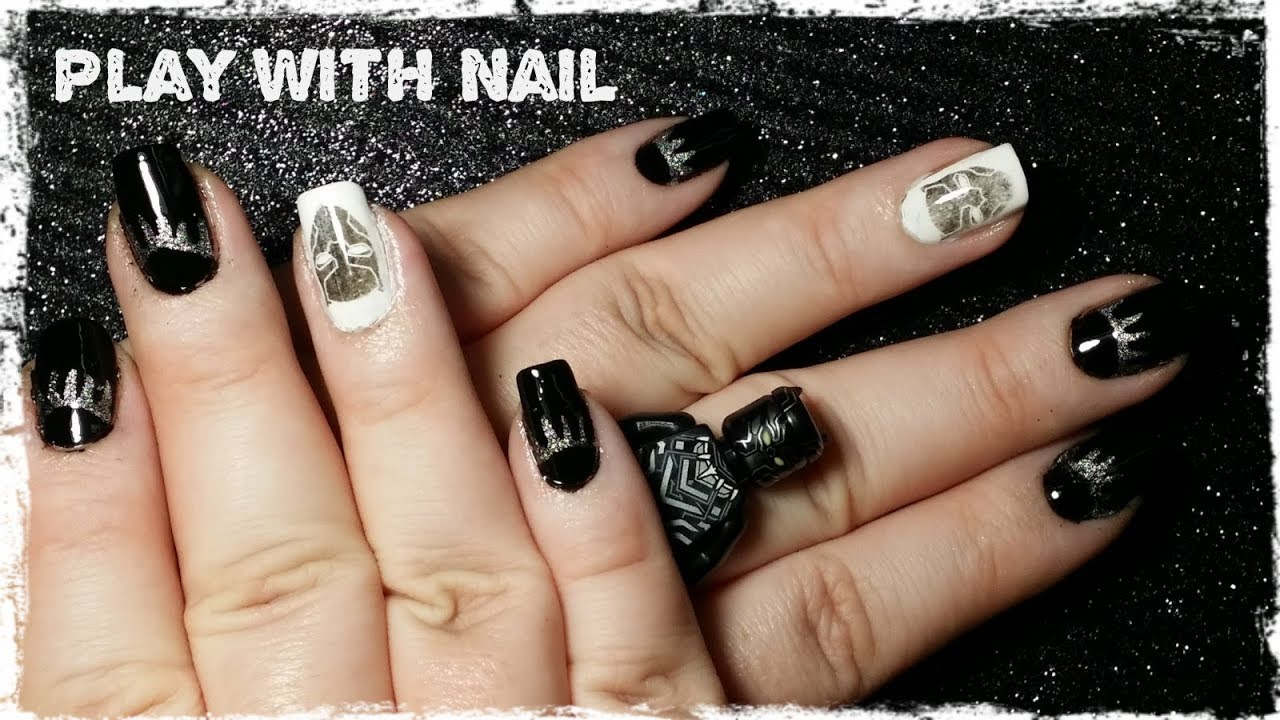 Black Panther nails - Black Panther Nails - YouTube