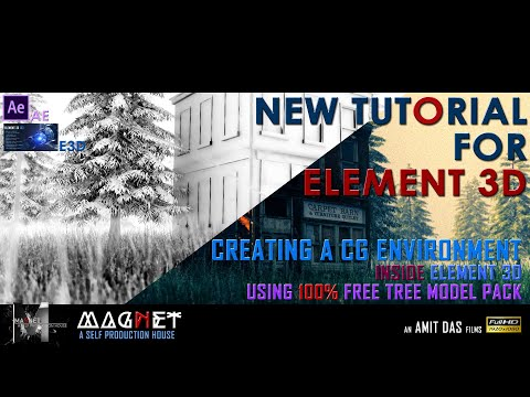 How to create a CGI environment inside ELEMENT 3D using 100% free tree model pack