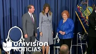Melania Trump participa en un evento el Hospital de la Universidad Thomas Jefferson en Philadelphia