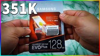 Mở hộp thẻ nhớ SAMSUNG EVO PLUS 128Gb nâng cấp không gian lưu trữ cho điện thoại Android
