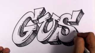 Graffiti Writing Gus Name Design - #26 in 50 Names Promotion | MAT