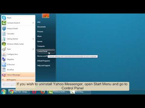 How to uninstall Yahoo! Messenger