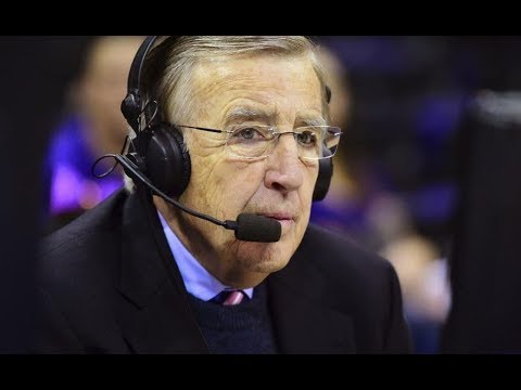 You are looking live … at Brent Musburger's return to the booth with the Raiders