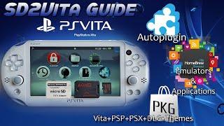 Easy SD2Vita Autoplugin PKGJ VitaHomebrew Guide