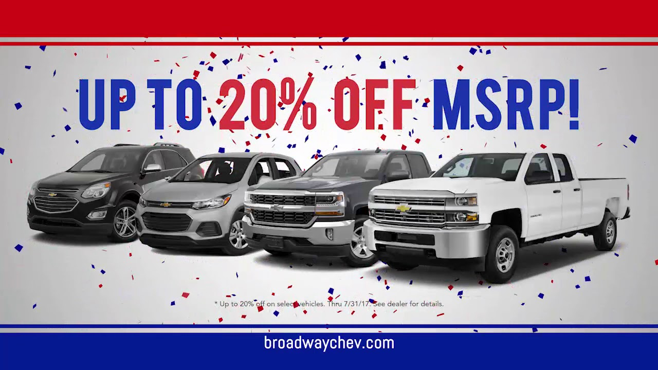 Captivating Broadway Chevrolet; Green Bay, WI Up To 20% OFF Best Selling Chevy Models!  July 2017