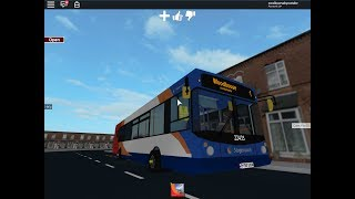 Hettingthorpe Bus Simulator V2 on Roblox on route 1 to Woodhouse