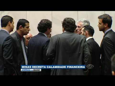 Minas Gerais decreta calamidade pública financeira