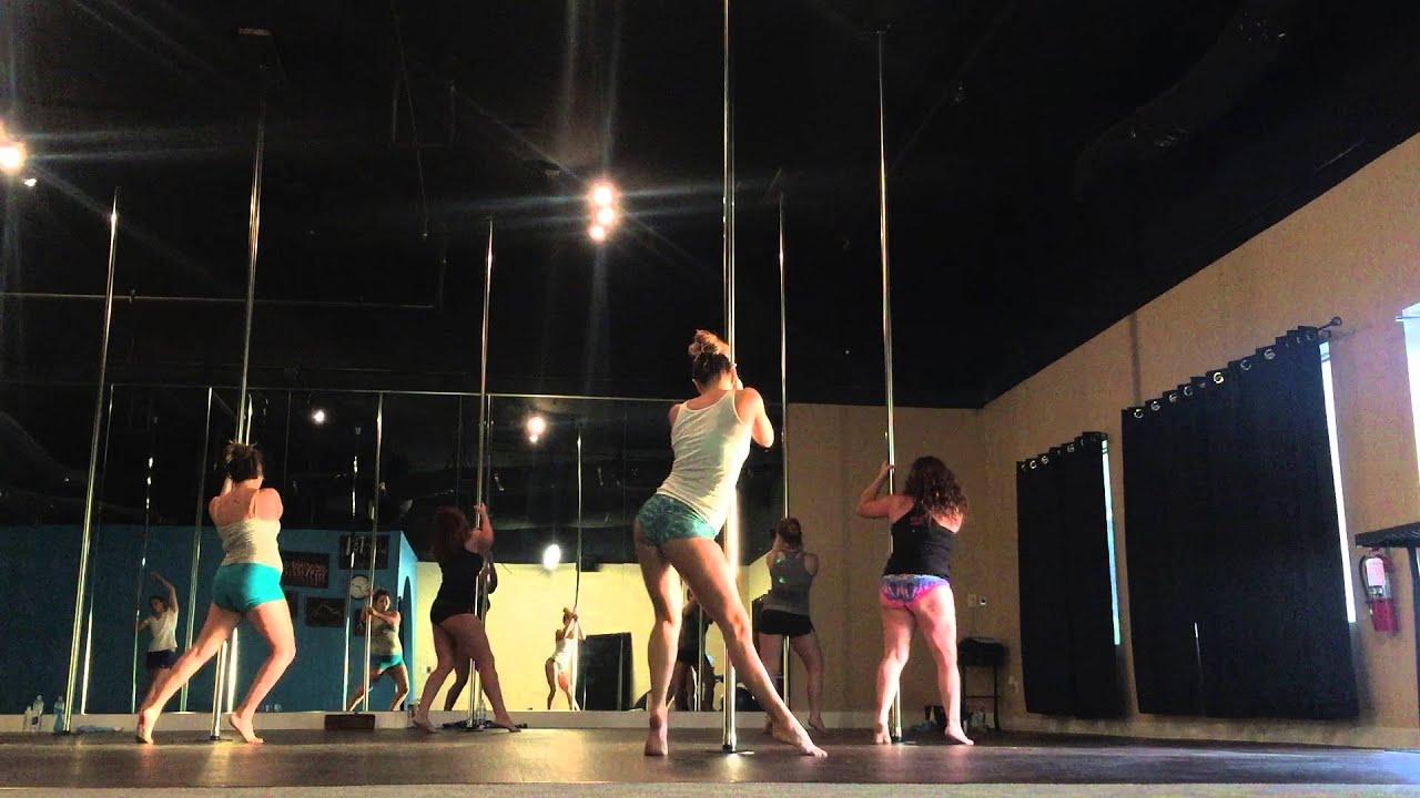 Beginner Pole Dance Routine 3-14-16 - YouTube