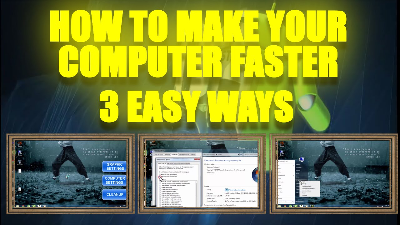 How To Make Your Computer Faster - Windows 7 - 3 Easy Ways To Increase Computer Performance 2015 ...
