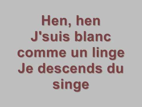 Marc Lavoine - Je descends du singe (Lyrics) -HD