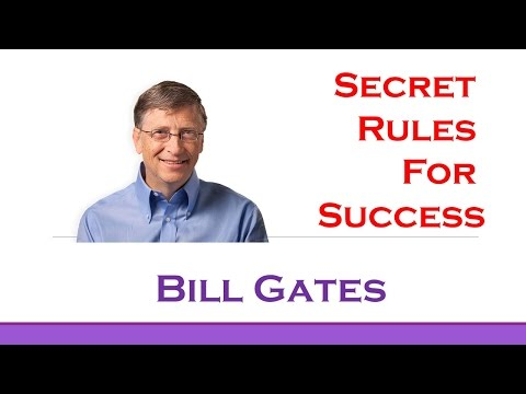 Bill Gates's Top 3 Rules for Success