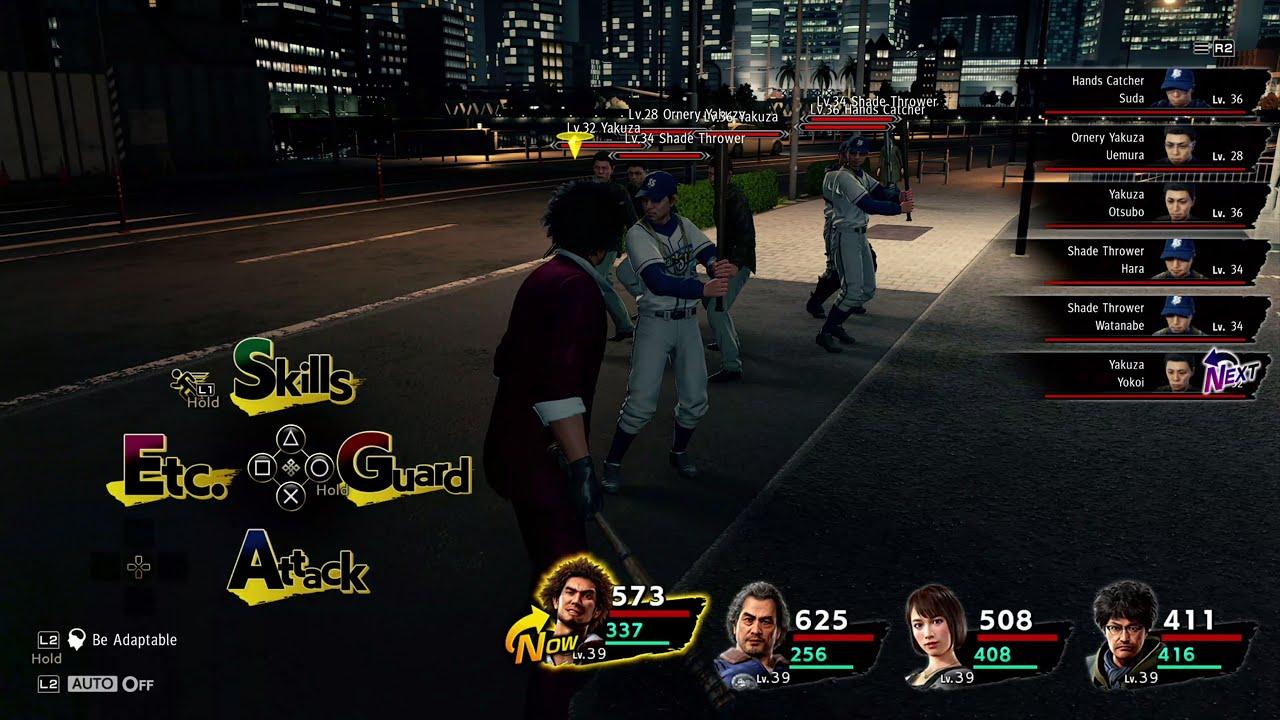 Yakuza Like A Dragon Ps5 Battle Gameplay Youtube