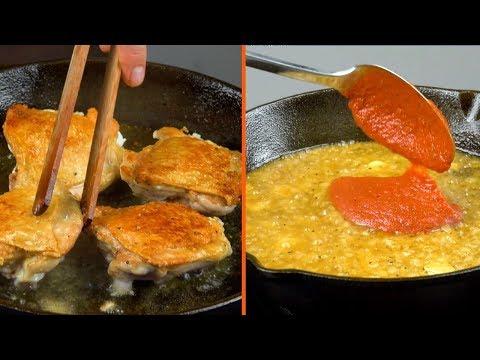 Flambé Garlic & White Wine For The Tastiest Chicken Ever