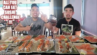 ALL YOU CAN EAT SUSHI CHALLENGE! EPIC CHEAT MEAL