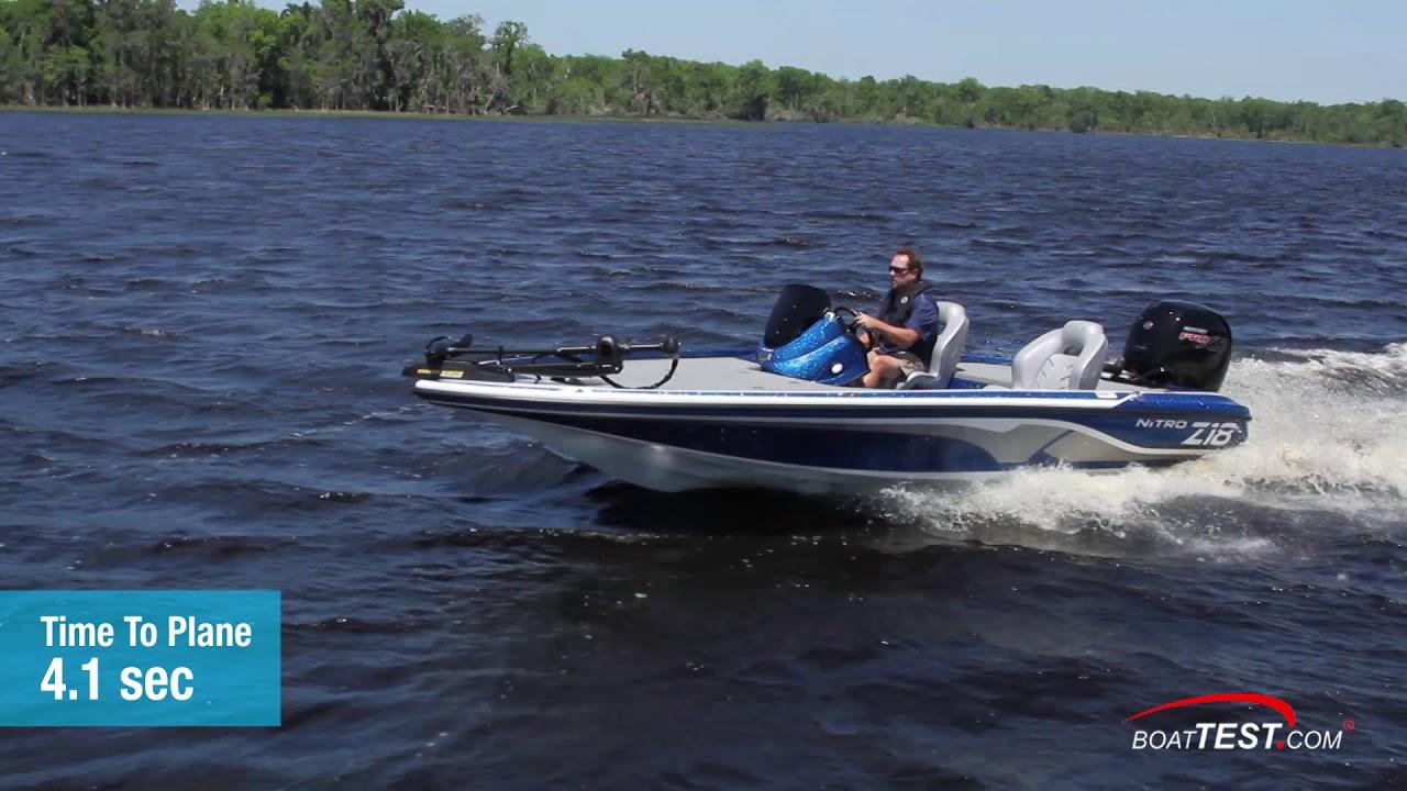 Nitro Z18 (w/ Mercury 150-hp Pro XS) (2019-) Test Video - By BoatTEST com