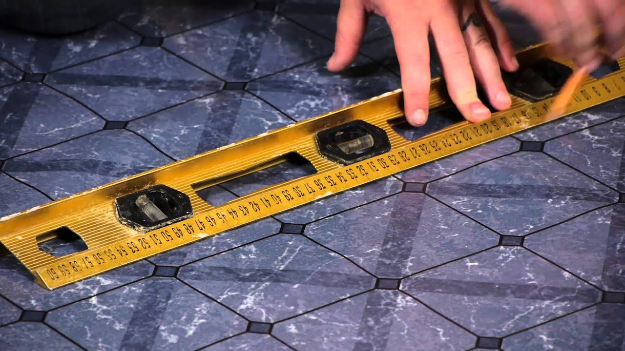 How To Lay Peel Stick Tiles Over Linoleum Flooring Help Youtube