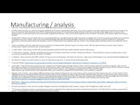 Economic Policies   Analysis   Liberal Party of Canada, NDP and CPC   Election 2015