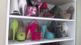Condo Tour: Updated Closet Office+ Shoe Wall Organization+ Interior Decor And Closet