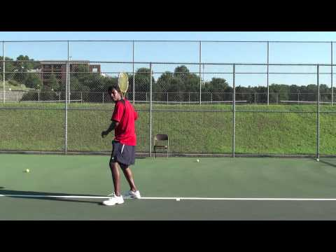 Tennis footwork is explained in Tamil